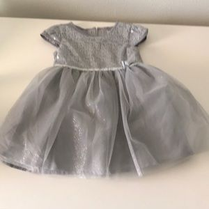 NWOT Silver 18 month Carters dress
